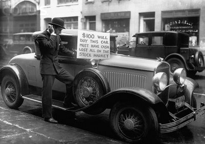 1929 Stock Market Crash Devastation- Man Selling Car